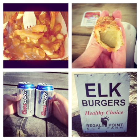 sauble beach, bestfriend, fried pickles, pountine, delicious, cottage, bikini,