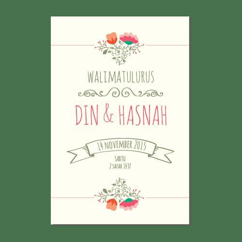 kad kahwin Floral 4