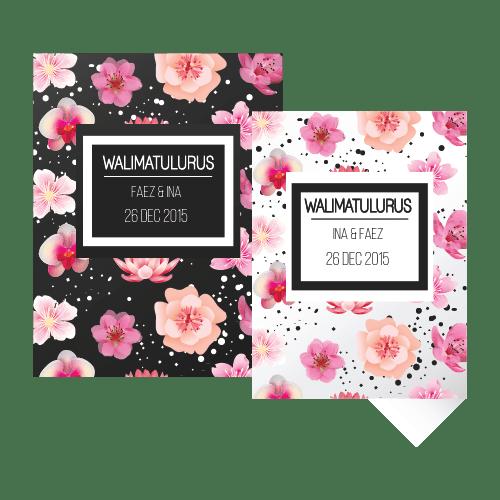 kad kahwin Floral-7