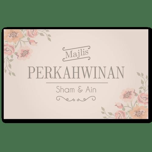 kad kahwin floral 1 Sham-Ain