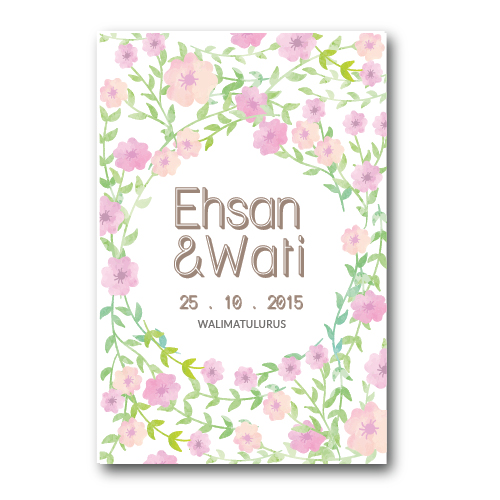 Kad Kahwin Floral 19