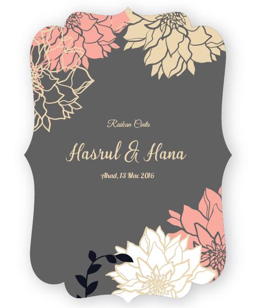 Kad kahwin floral 24