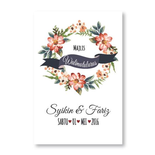 Kad kahwin Floral 31
