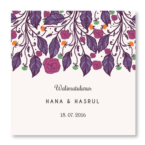Kad kahwin Floral 32