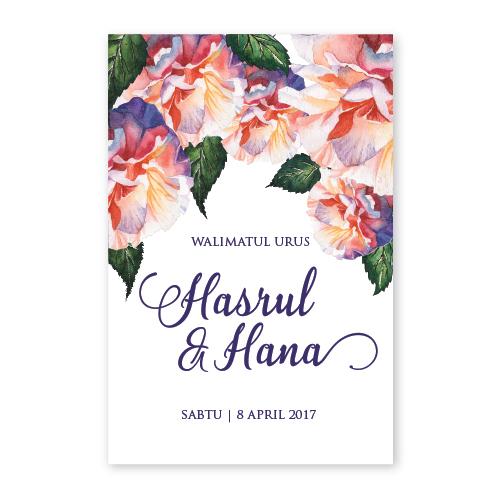 kad kahwin floral 55