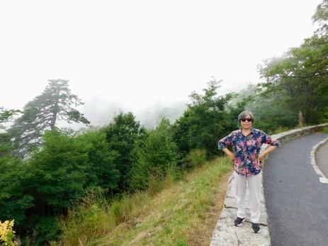雾中的山脊
