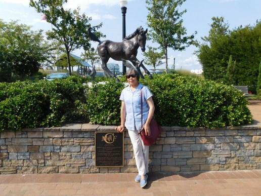 Chincoteague Island 青口提个岛野马雕像
