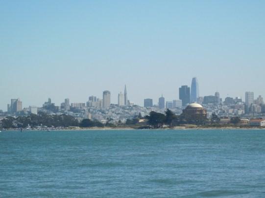从金门大桥回望旧金山