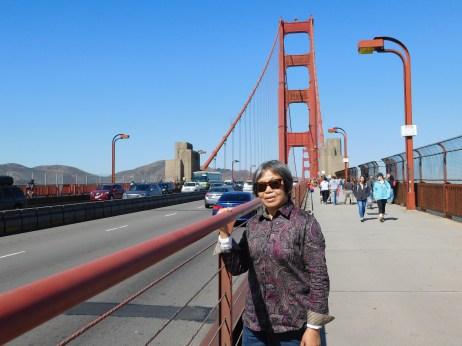 在金门大桥上