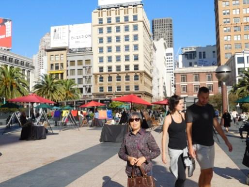 在旧金山市中心 Union广场