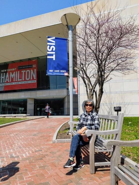 国家宪法中心。汉密尔顿展览。