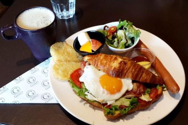 【食記】永和.古迪歐 Goody.O Café.甜蜜豬奶油可頌激推超好吃 @永安市場站(四號公園)