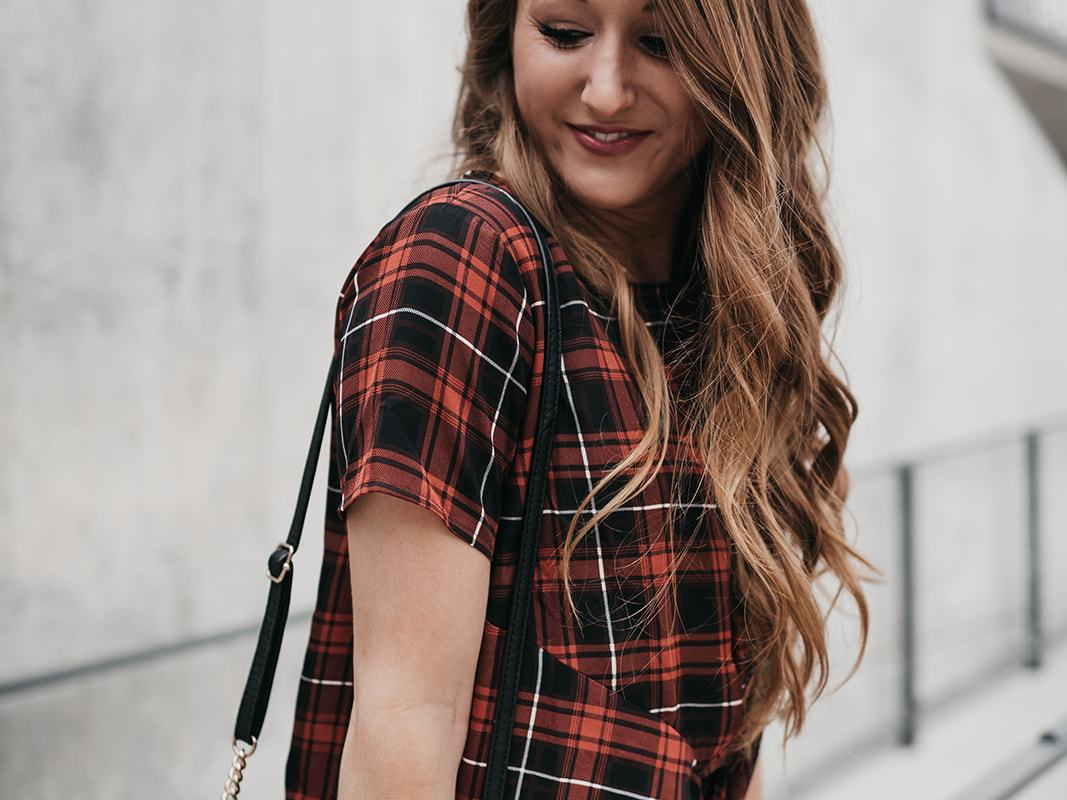 Red and Black Plaid for a Cool Fall Day | Chaos and Coffee