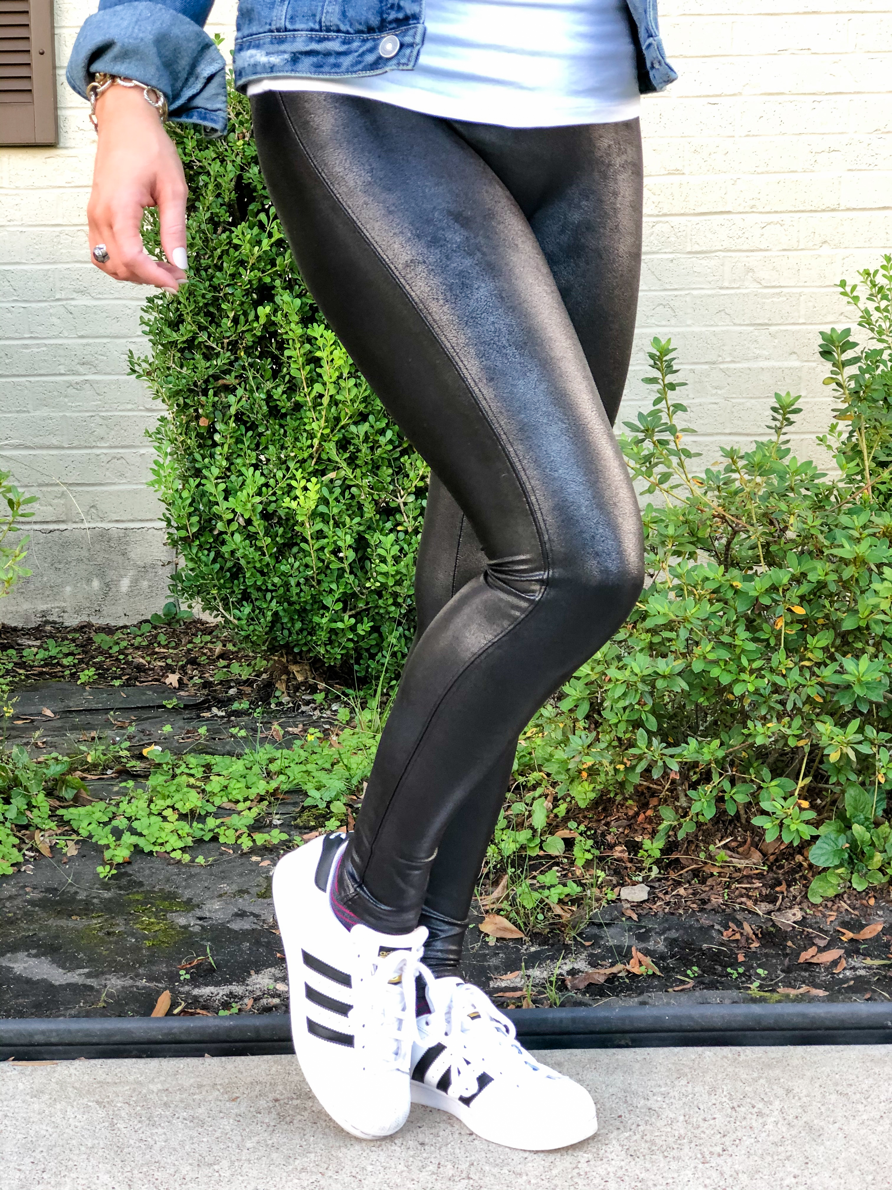 Spanx Leather Leggings: An Honest Review | Chaos and Coffee