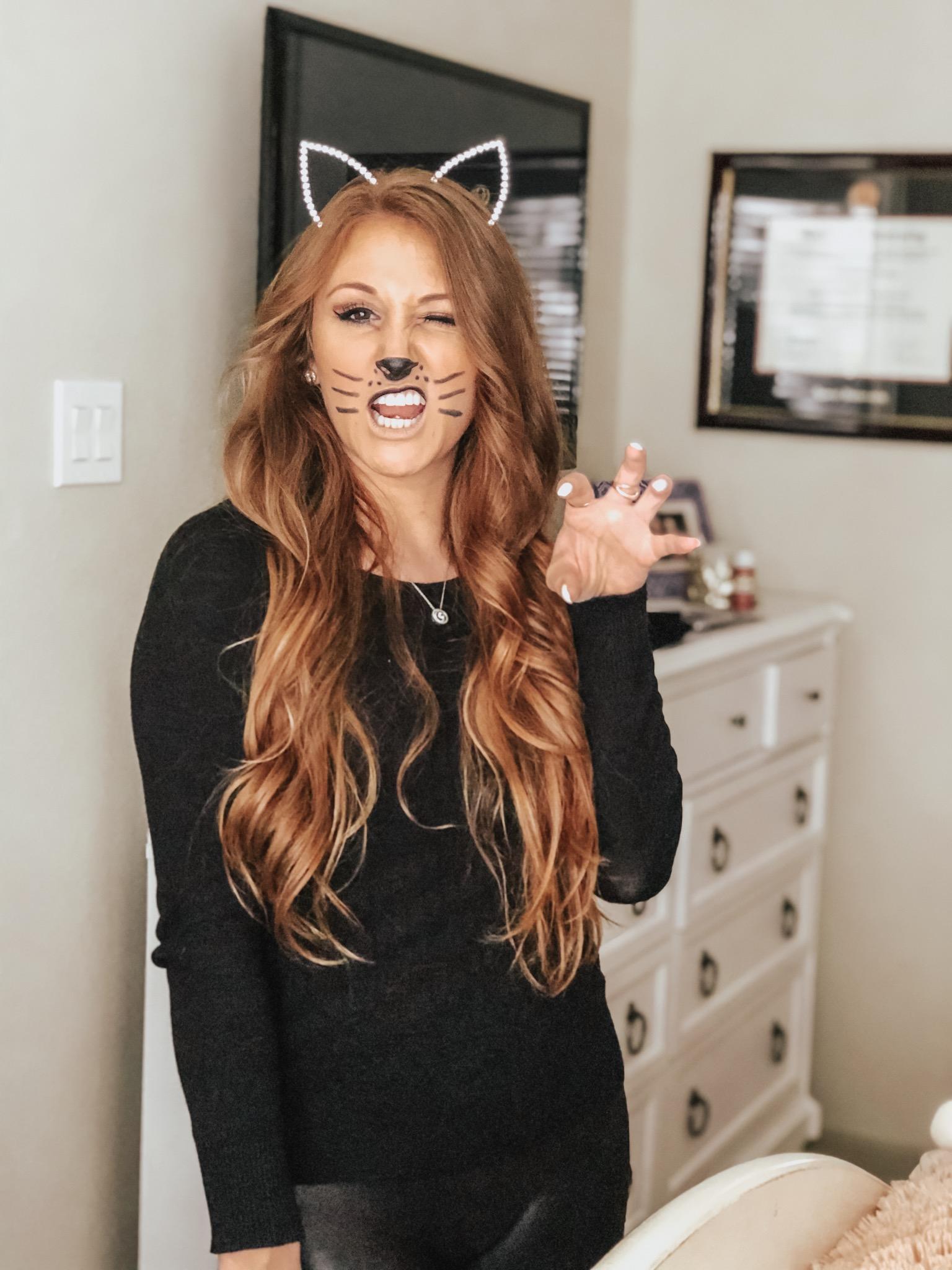 Easy, DIY Kitty Cat Halloween Costume | Chaos and Coffee