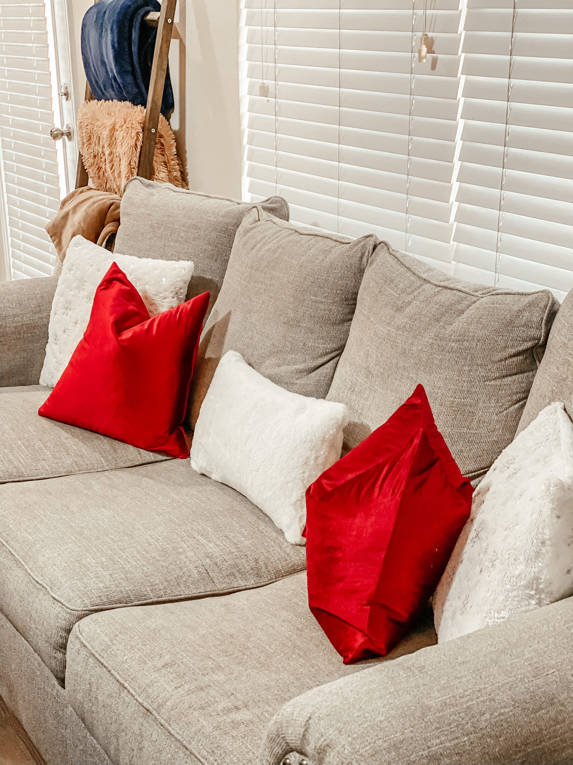 Red and White Christmas Throw Pillows