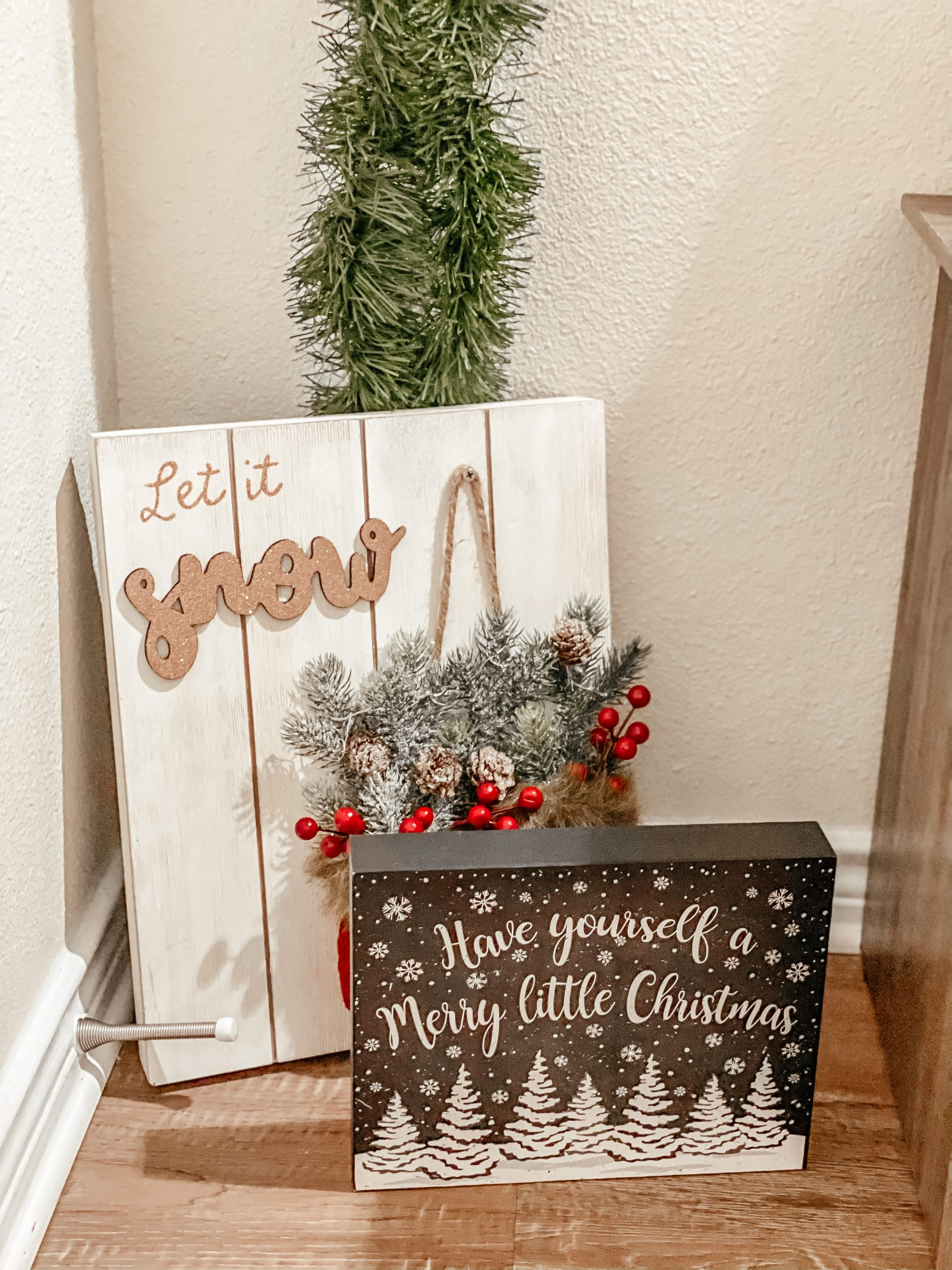 Red and White Christmas Signs and Decor