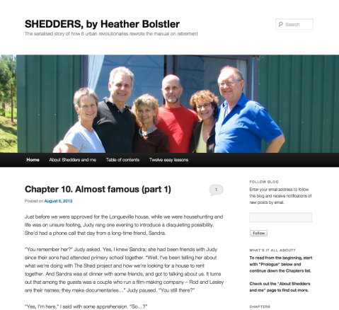 Shedders: The serialised story of how 6 urban revolutionaries rewrote the manual on retirement