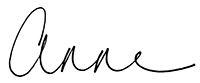 Anne English signature Anne