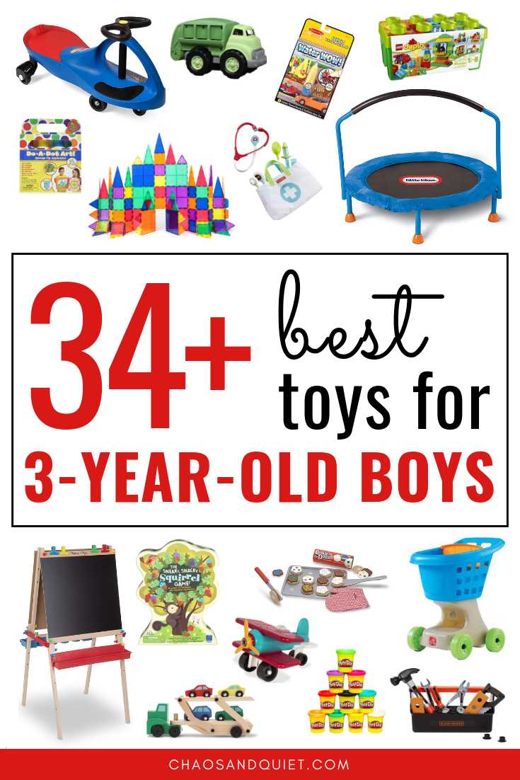 Looking for a great gift three-year-old boy? Here are 34+ Best Toys Three-Year-Old Boys | Chaos \u0026 Quiet