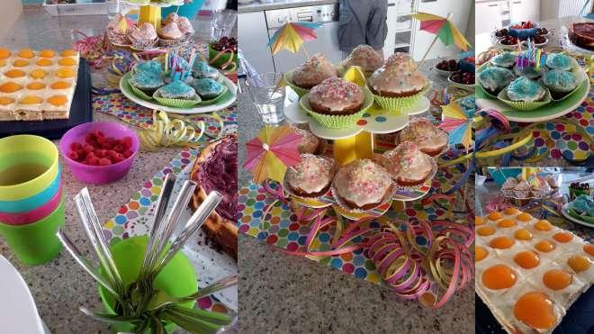 Kuchenbuffet zum zweiten Geburtstag