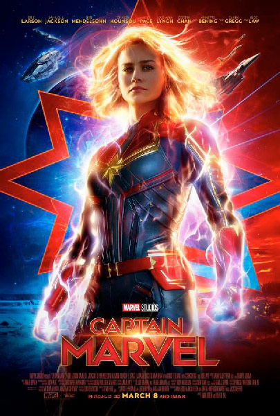 captain marvel synopsis, release date, poster 2019 featuring brie larson