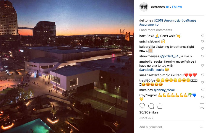 deftones new album 2019 instagram post sacramento