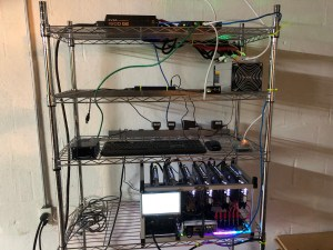 My Crptocurrency mining rack