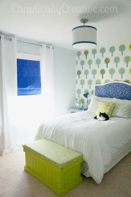 crib to upholstered headboard diy - chaotically creative