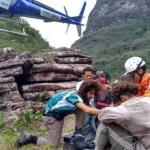 Após 5 dias de trilha na BA, turista passa mal e é resgatado na Chapada Diamantina