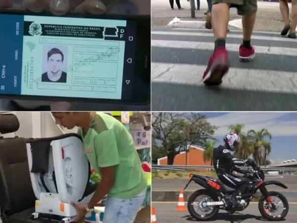 Multa para pedestre e documentos digitais: veja mudanças no trânsito em 2018