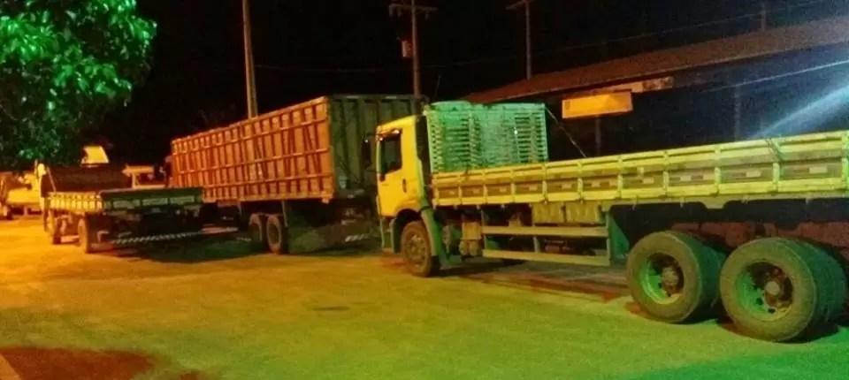 PRF em Seabra recupera mais dois caminhões roubados e apreende um com restrição judicial