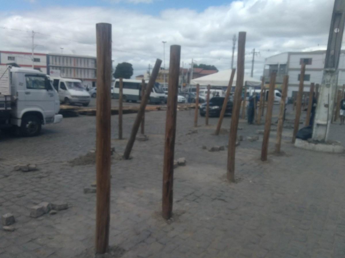 Estrutura do São João de Itaberaba começa a ser montada