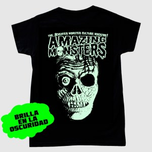 Camiseta de Amazing Monsters que brilla en la oscuridad
