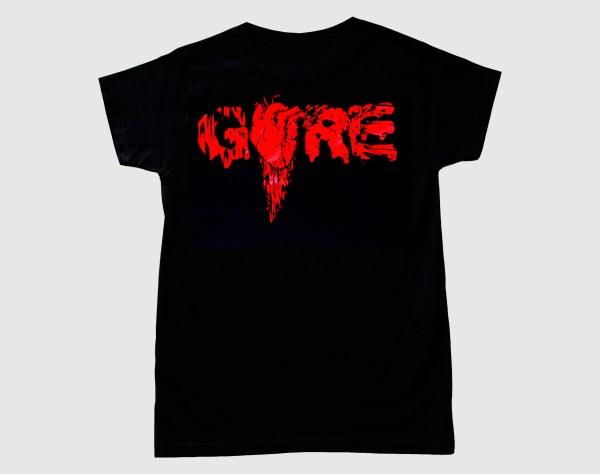 "Camiseta negra con diseño ""Gore"""