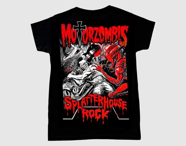 Camiseta Motorzombis Splatterhouse Rock