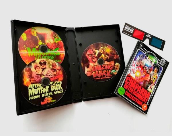 VHS abierto de Chaparra Entertainment Collection