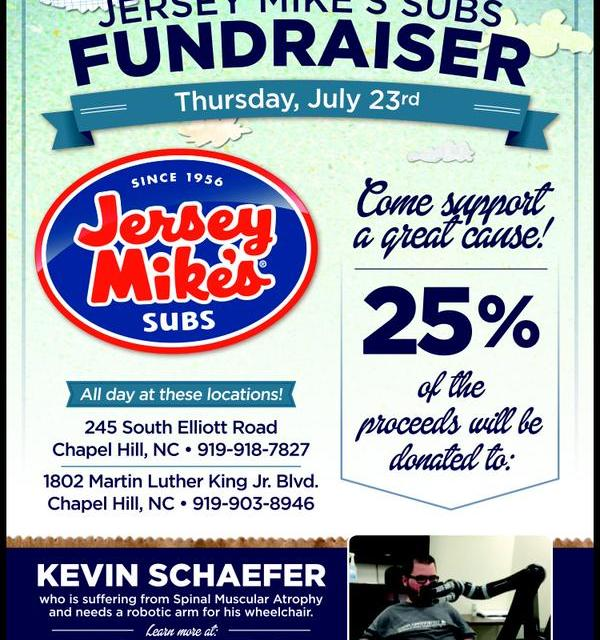 Jersey Mike's Hosting Fundraiser Today