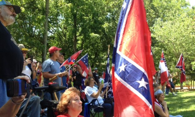 Confederate Flag Supporters Rally In Hillsborough