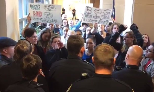 Protesters Rally At UNC Board of Governors Meeting