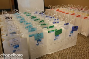 The gift bags are ready for all the participants! Photo by SP Murray