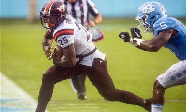No. 25 Virginia Tech Storms Past No. 17 UNC for 34-3 Blowout Win