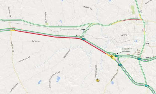 Multiple Lanes of I-85 in Orange County Closed Monday Morning