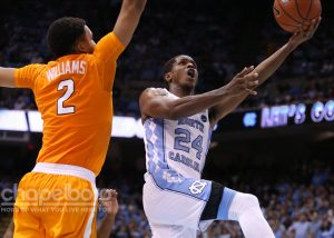 Kenny Williams led the Tar Heels with 12 points in the game. (Todd Melet)
