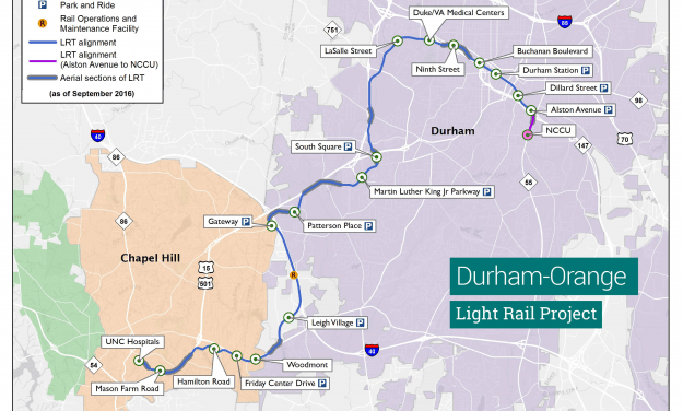 Chapel Hill Continuing Planning for Potential Durham-Orange Light Rail Transit Stations