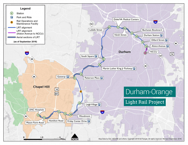Final Durham-Orange Light Rail Public Hearing Set for Tuesday Night