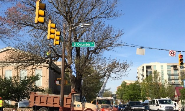 Tree Removal From Franklin and Columbia Intersection Causing Traffic Delays