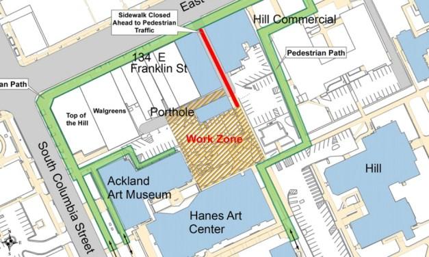 Overflow Parking Established During Porthole Alley Construction