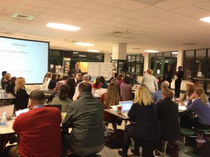 Superintendent Forcella speaks during CHCCS Focused Dialogue Session