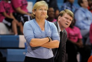 Coach Hatchell and Andrew Calder (UNC Athletics)